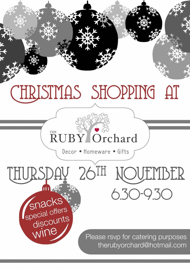 Christmas shopping Evening 26th November 2015