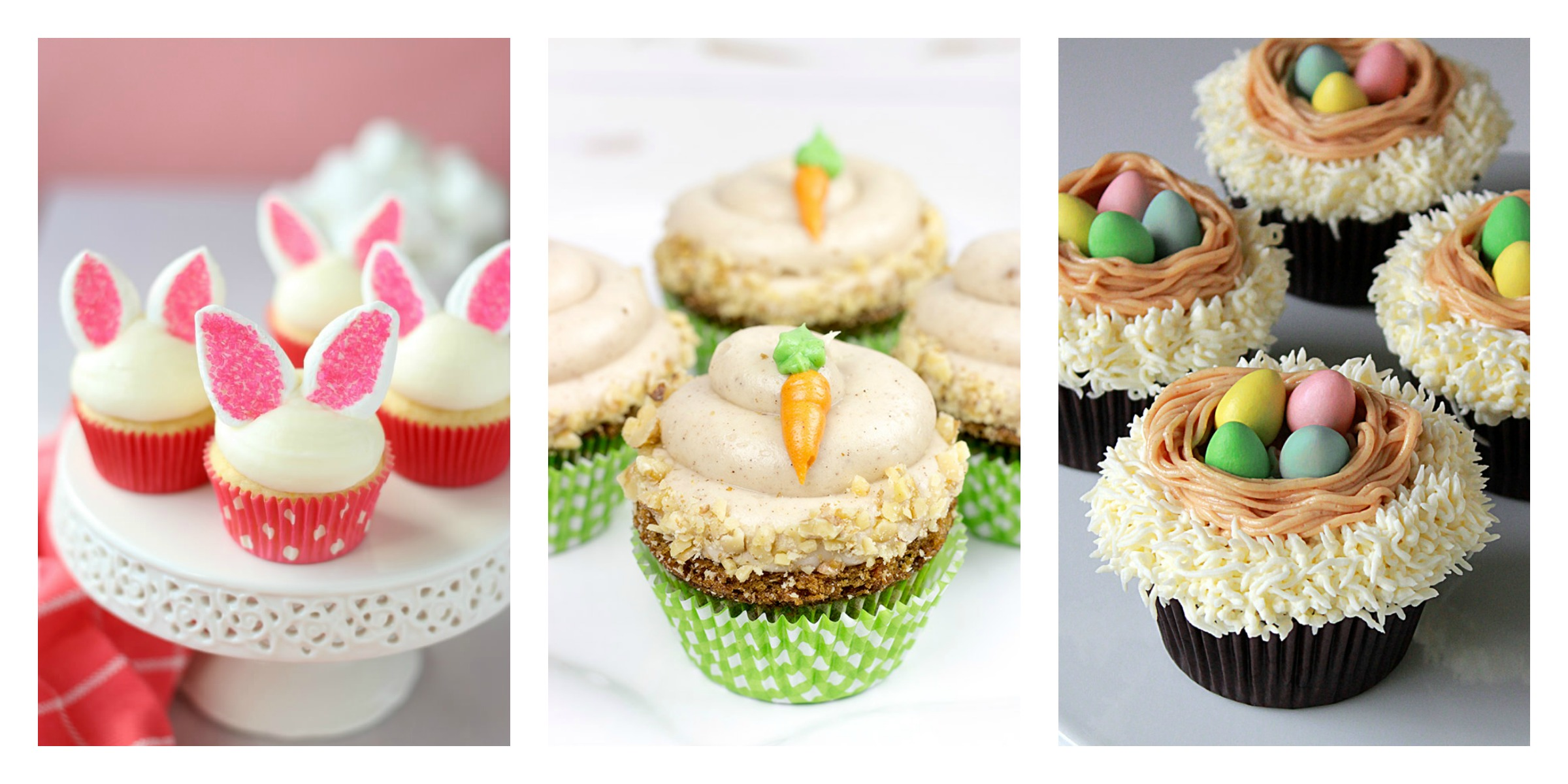Easter Cup cake collage 1